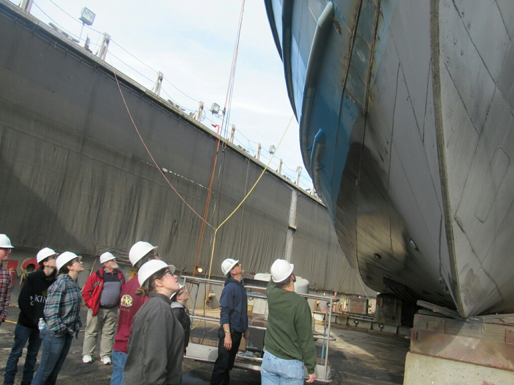 VA Bch Tech students learning about docking a vessel at LSY
