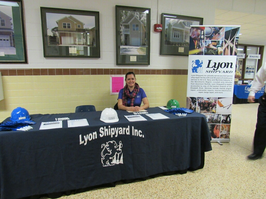 LSY Recruiter Sabrina James at the VA Bch Tech School career day